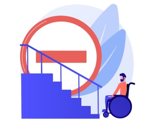 Cofersa - Blog - Soluciones para hacer una casa accesible para discapacitados - Inaccesible minusválidos