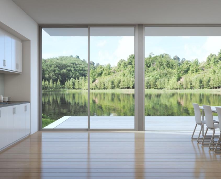 Cofersa - Construcción y reformas - Blog - Ideas de reformas pre-verano - Vistas terraza con ventanales